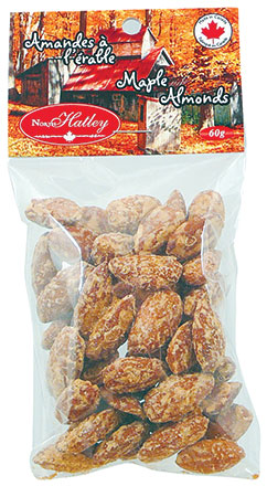 Maple coated almonds