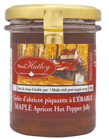 Maple apricot hot pepper jelly