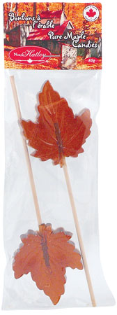 2 Maple leaf lollipops - Maple (bag)